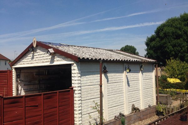 asbestos garage from ground